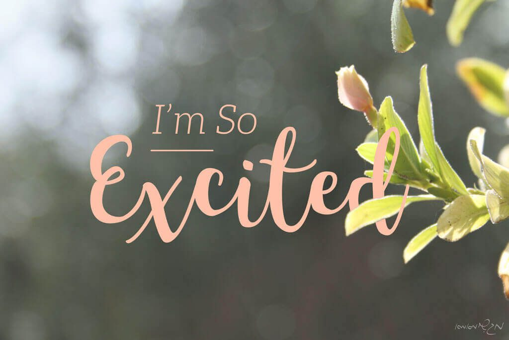 I'm so excited typography